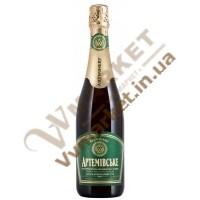 Вино ігристе Артемівське напівсухе мускатне біле, 0.75л
