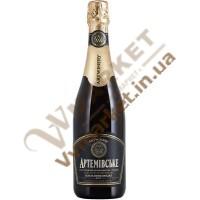 Вино ігристе Артемівське напівсолодке біле, чорна эт. 0,75л