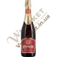 Вино ігристе Артемівське напівсолодке червоне, 0,75л