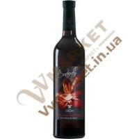 Вино Butterfly червоне напівсолодке 0.75л Чизай