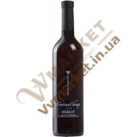 Вино Мерло (MERLOT) кошерне червоне напівсухе 0.75л Чизай