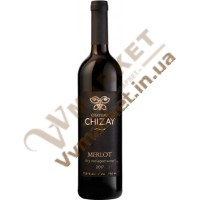 Вино Мерло (MERLOT) витримане червоне сухе 0.75л Чизай