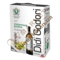 Вино Алазанская долина DiDi Godori, белое полусладкое, 2л