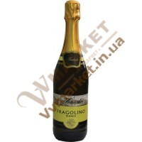 Вино ігристе Фраголіно Fontale Fragolino Bianco, біле, солодке, 0.75л