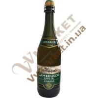 Вино ігристе Ламбруско Fontale Lambrusco Emilia Bianco, біле, напівсолодке, 0.75л
