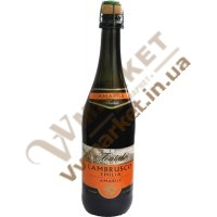 Вино ігристе Ламбруско Fontale Lambrusco Emilia Rosso, червоне, напівсолодке, 0.75л