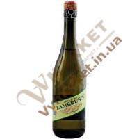 Вино ігристе Ламбруско Villa Balestra Lambrusco Emilia Bianco, біле, напівсолодке, 0.75л