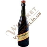 Вино ігристе Ламбруско Villa Balestra Lambrusco Emilia Rosso, червоне, солодке, 0.75л