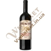 Вино Алазанская долина Jorge wine, красное полусладкое, 0.75л