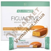 Дієтичний батончик ФигуАктив (FiguActive) зі смаком хрусткої карамелі, 6x60г