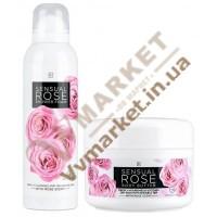 SENSUAL ROSE Набір (крем масло для тіла 200 мл та піна для душа 200мл), LR