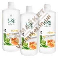 Aloe Verа гель питьевой Алоэ Вера (Алоє Вера) с добавкой Мед, набор 3 по 1л, LR