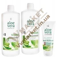 Aloe Verа гель питьевой Алоэ Вера (Алоє Вера) с экстрактом крапивы, набор 2 по 1л и Алоэ Вера Крем с прополисом, 100 мл, LR