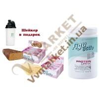 Набор ФигуАктив протеиновый напиток (FiguActiv Protein drink) и батончики ФигуАктив (FiguActiv) со вкусом клубники и йогурта 1 коробка, 6x60г, и со вкусом нуги 1 коробка, 6x60г, LR