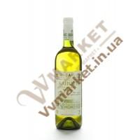 Вино Масандра Аліготе сортове, сухе, біле 0,75л