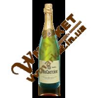 Вино ігристе Новосвітське біле, н/сол, 0.75л