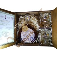 "Коньяк сув. ""Золотий Дюк"" Шато Мутон Ротшильд +2 бокала, декор Special Edition 0,7л. Шустов"