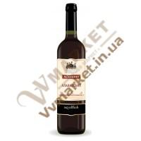 """Вино Алазанское  """"Алаверди"""", красное полусладкое, 0.75л"""