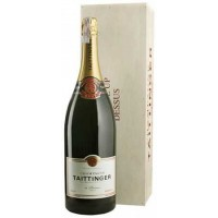Шампанское Champagne Taittinger белое Brut Reserve wood box, 3л