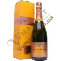 Шампанское Вивье Клико (Veuve Clicquot) брют розе, 0.75л в коробке, Франция