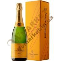 Шампанское Вивье Клико (Veuve Clicquot) брют белое, 0.75л в коробке, Франция
