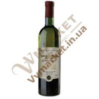 """Вино Алазанская долина """"Заря Кахетии"""", белое  полусладкое, 0.75л"""
