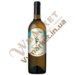 Вино Bellissimo Teatro PINOT GRIGIO, белое сухое, Италия, 0.75л с доставкой вся Украина