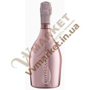 Вино игристое Bottega Pink Gold Prosecco розовое брют, 0.75л с доставкой вся Украина