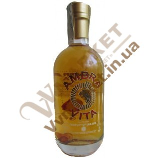 Водка Янтарная Ambra Vita с янтарем, 0.7л с доставкой вся Украина