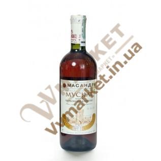 Вино Массандра Мускат белый Красного Камня крепленое, ликёрное, 0.75л с доставкой вся Украина