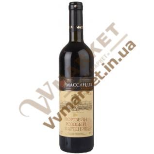 Вино Портвейн розовый Партенит 0.75л ТМ Массандра с доставкой вся Украина
