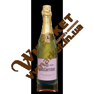 Вино игристое Новосветское розовое, полусладкое, 0.75л