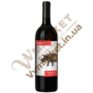 Вино Touch Africa Каберне (CABERNET), красное сухое, 0,75л с доставкой вся Украина
