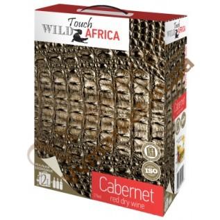 Вино Touch Africa Каберне (CABERNET), красное сухое, BOX 2л с доставкой вся Украина